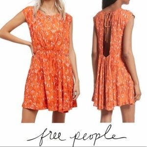 NWT Free People Fake Love Boho Open Back Dress XS